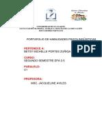 Folder de Habilidades MIVHELLE PORTES