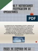 Conceptos y Definiciones de La Investigación de Operaciones