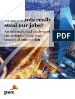 'Will Robots Steal Our Jobs PWC.