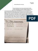 informal mathematics assessment