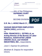 Vasaar Industries vs. Estrella