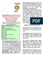 Moraga Rotary Newsletter February 20 2018