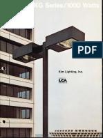 Kim Lighting EKG Phase III Series Brochure 1973