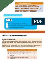 4.-Metodos Media Geometrica, Gibson, Centro de Gravedad.