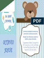 Invitacion - Baby Shower Octavio