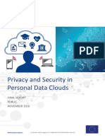 Privacy and Security in Personal Data Clouds