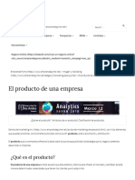 El Producto de Una Empresa _ 4ps Del Marketing Mix _ Emprende Pyme
