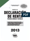 Cartilla Declracion de Renta 2013