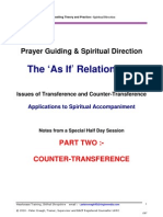 Counter-transference & Spiritual Direction :- Aspects of the 'As If' Relationship