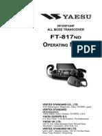 Yaesu FT-817ND Operating Manual