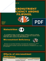 Micronutrient Deficiency Among Filipinos