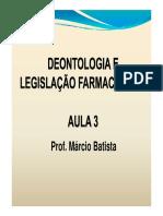 Deonto Historico Da Legislacao Farmaceutica e Sanitaria Cff Crfs e Sindicato