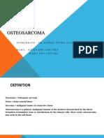 Osteosarcoma Ppt