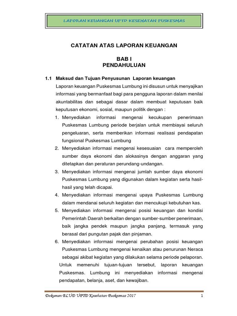 350218776 Contoh Dokumen Laporan Keuangan Puskesmas Lumbung Docx Docx