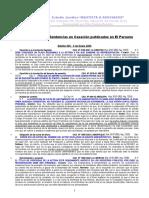 Resumen de Sentencias en Casacion - 2005