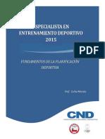 Entre - Capitulo 1-Fundamentos de La Planificacion Deportiva