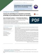 Curvas de aprendizaje de sumatoria acumulada (CUSUM) en procedimientos básicos de anestesia 2014