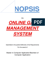 114-Online Gas Agency Management System-Synopsis