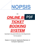 120-Online Bus Ticket Booking -Synopsis