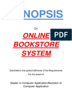 122-Online Book Store System -Synopsis