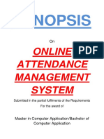 124-Online Attendance System -Synopsis
