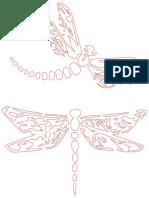 Dragonflies stencil