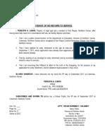 Affidavit No Return