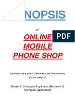 135-Online Mobile Phone Shop -Synopsis