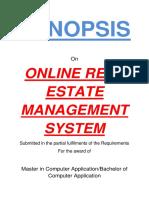 136-Online Real Estate Management System -Synopsis