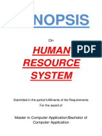 132-Human Resource Management System -Synopsis