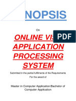 131-Online Visa Application Processing System -Synopsis