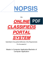 134-Online Classifieds Portal -Synopsis