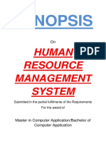 141-Online Human Resource Management System -Synopsis