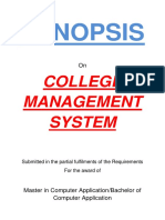 143-College Management System -Synopsis