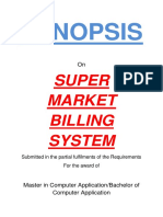 144-Supermarket Management System -Synopsis