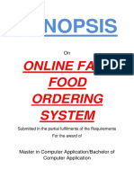148-Fast Food Ordering System -Synopsis