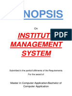 149-Institute Management System -Synopsis