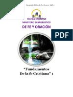 Fundamentos de La Fe Cristiana 1