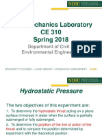 Lecture 3 - Hydrostatic Pressure Experiment