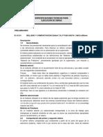 Especificaciones Tecnicas Para Ejecucion de Obras