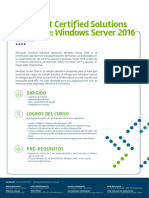 Mcsa Windows Server 2016 Cibertec