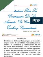 Instructivo Acuerdos de Convivencia Escolar y Comunitario