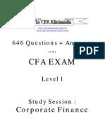 Ss11 646 Corporate Finance