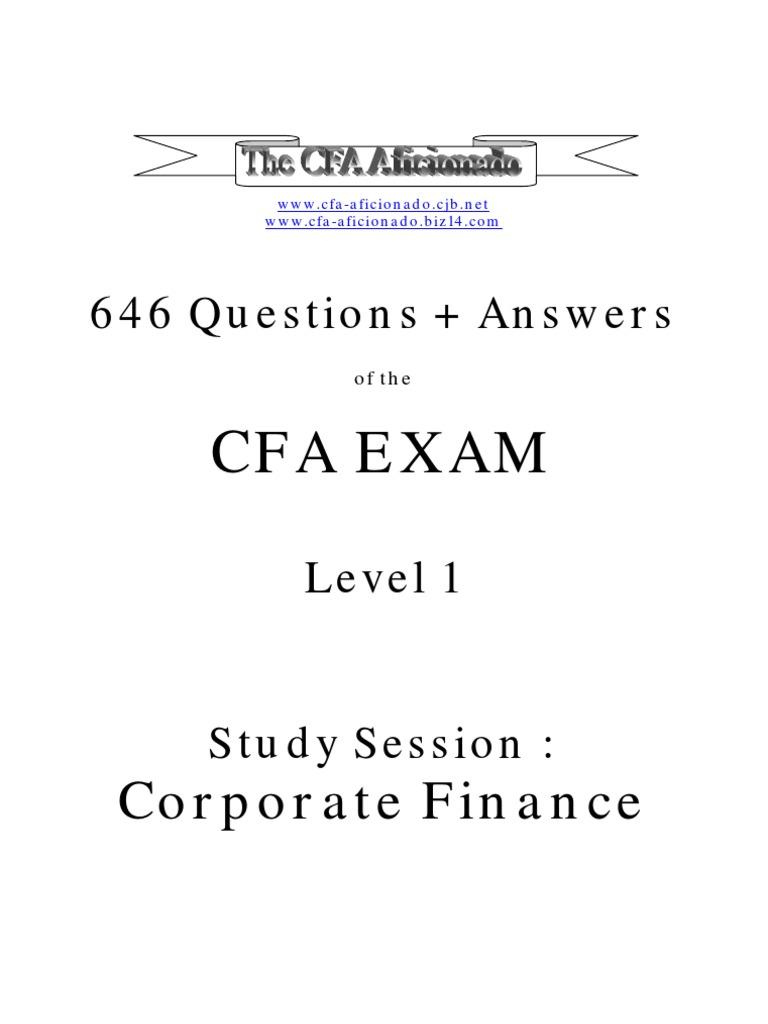 Cfa study providers