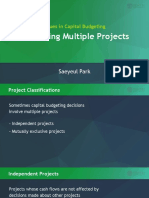 3 Issues in Capital Budgeting 1 Evaluating Multiple Projects