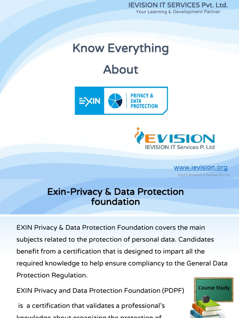 EXIN Data Privacy Foundation Online Course & Certification ...