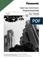 KX-TD 500 Programming Guide V4M