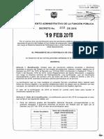 Decreto 322 Del 19 Febrero de 2018