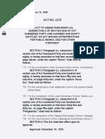 Act No. 4275 | Amendments to Par. (C), Subsec. A of Sec. 1 of Act No.