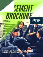 Placement Brochure School of Management 2016